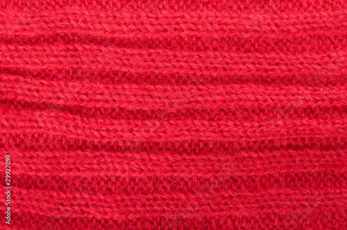 Knitted red wool fabric