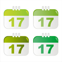set of 4 st. patrick's day calendar icons