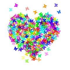 heart and butterflies