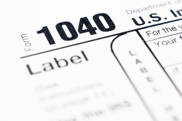 American tax form 1040 for year 2010
