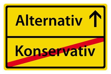 Alternativ anstatt Konservativ