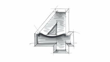 3d metal figure sketch - 4