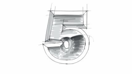 3d metal figure sketch - 0