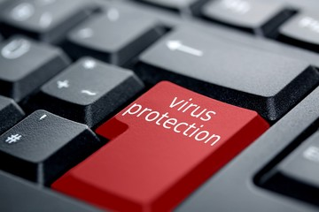 virus protection red key