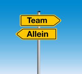 Team oder Allein