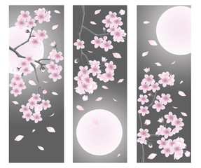 Spring flower banner. vector illustration