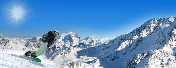 Stitched Panorama ski