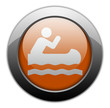 "Orange Metallic Orb Button ""Canoeing"""