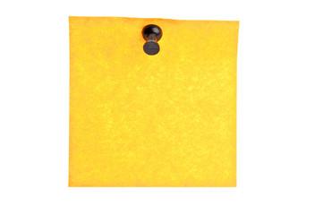 Empty yellow post it
