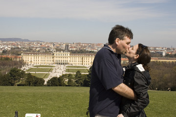 Couple Kissing in Vienna
