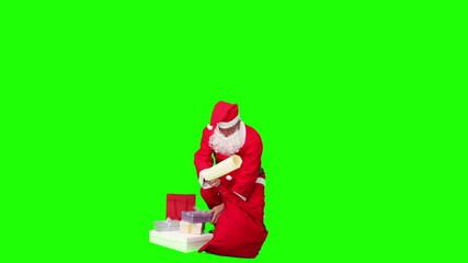 Santa Claus packing