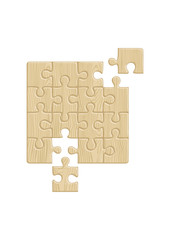 Wooden puzzle pattern (removable pieces). Vector