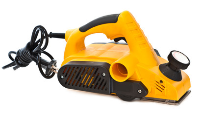 Electric sander for home handyman use, isolated over white
