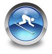 "Glossy Pictogram ""Downhill Skiing"""