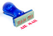 air mail blue rubber stamp