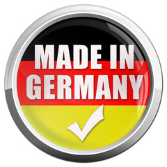 made in germany button glossy