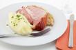 Kasseler Rippenspeer, Sauerkraut, Kartoffelpüree
