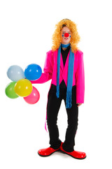 Funny clown in pink
