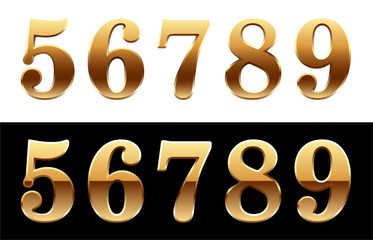 Golden number - 5, 6, 7, 8, 9.