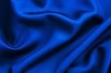 Tissu soie bleue