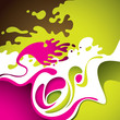 Abstract background with fluid shapes.