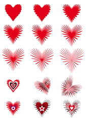 Love - Hearts radiating, expanding