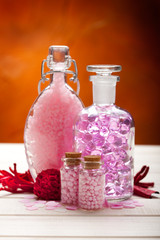 Aromatherapy - pink minerals for Spa