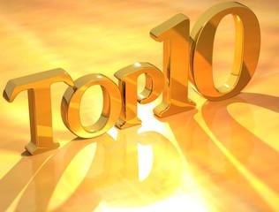 Top 10 Gold Text