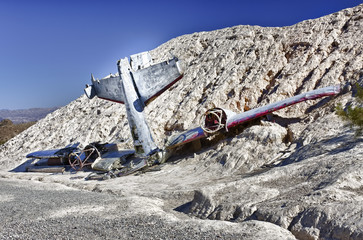 Plane Crash in the hill side