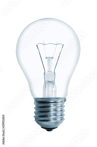 Light bulb isolated on a white backgronud