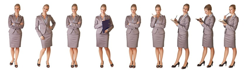 Businesswoman in different poses