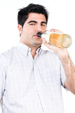 Man drinking alcohol poster