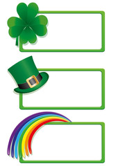 Set of St. Patrick`s day banners, part 1, vector illustration