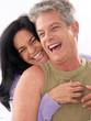 Adult hispanic couple enjoying together.