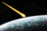 Fototapety Asteroid and Earth : meteor impact