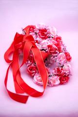 花輪とリボン