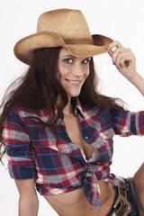 Girl tips Hat