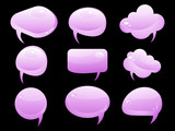 abstract glossy chat icon