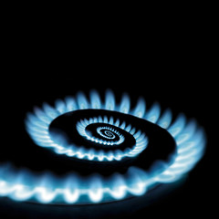 Conceptual vicious circle of energy crisis gas burner