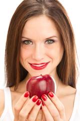 Woman offers Apple