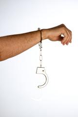 Hancuffed hand