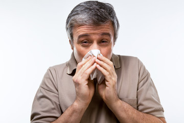 Man caught a cold