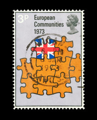 UK stamp commemorating entry into the European Community in 1973
