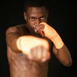 Boxer mit Bandage