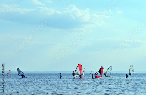 Fotobehang Water Motorsp. Surfers