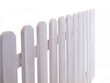 white wooden fence on white background