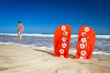 flipflops at the beach 2