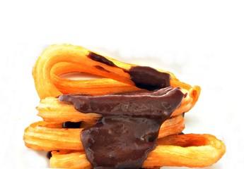 Chocolate sobre churros