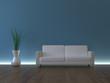 3d Sofa Rendering Neonschein blau