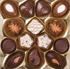 Delightful chocolate dessert close up